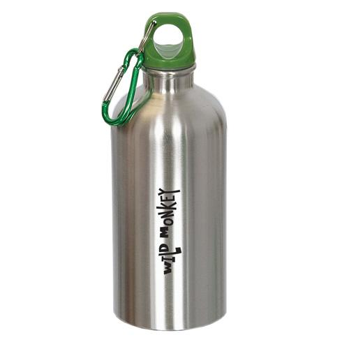 16 Oz. Stainless Steel Water Bottle W/ Carabiner