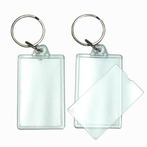 BLANK - Snap-In Rectangle Flat Key Tag