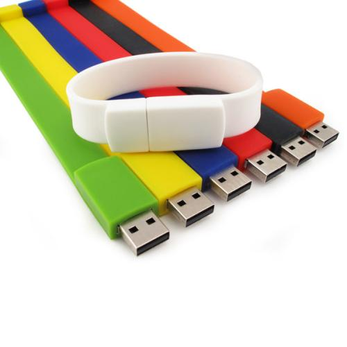 Silicone Wristband with USB Drive