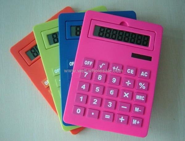 solar dual power desktop promotion electronic gift calculator