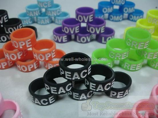 Customised silicone finger ring