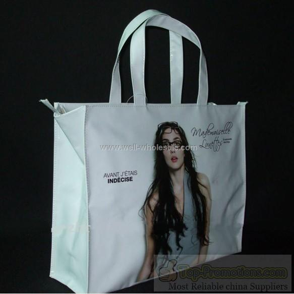 Promotional PVC shopping bag, PVC handbag, PVC tote bag
