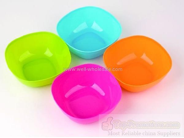 4PC Square Plastic Bowl