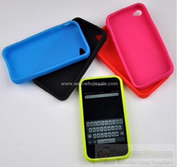 2012 Eye-catching silicone cell phone cover for iphone 4s
