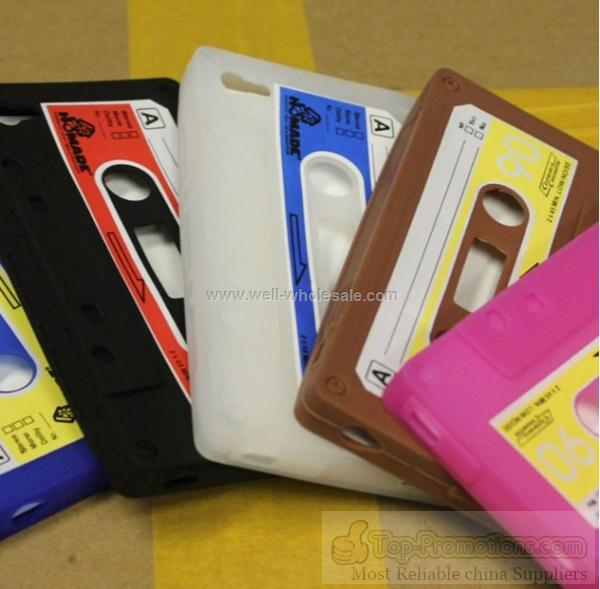 Pretty tape silicone cell phone cover for iphone 4G
