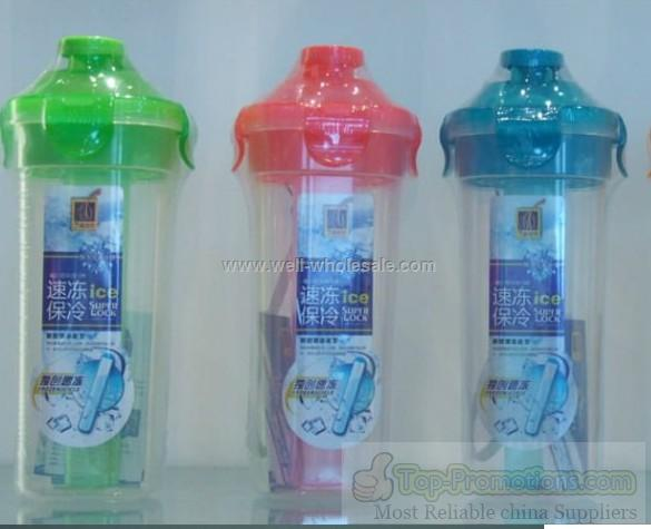 water bottle with ice wand,chilled shaker,shaker cup