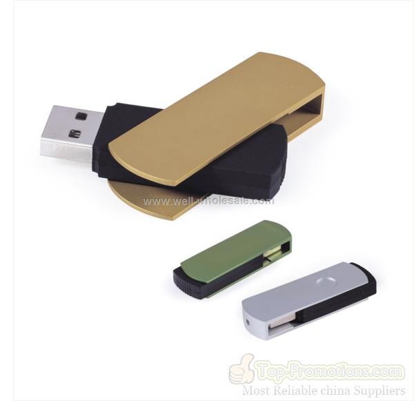 Colorful Plastic+Alumina Swivel USB flash drive