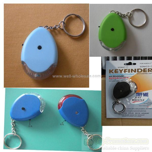Whistle key finder with switch