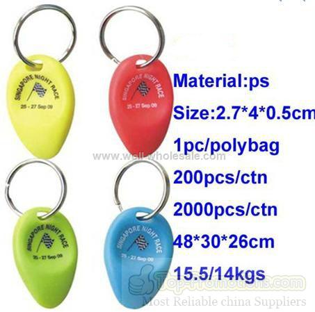 Plastic lottery scratcher keychain