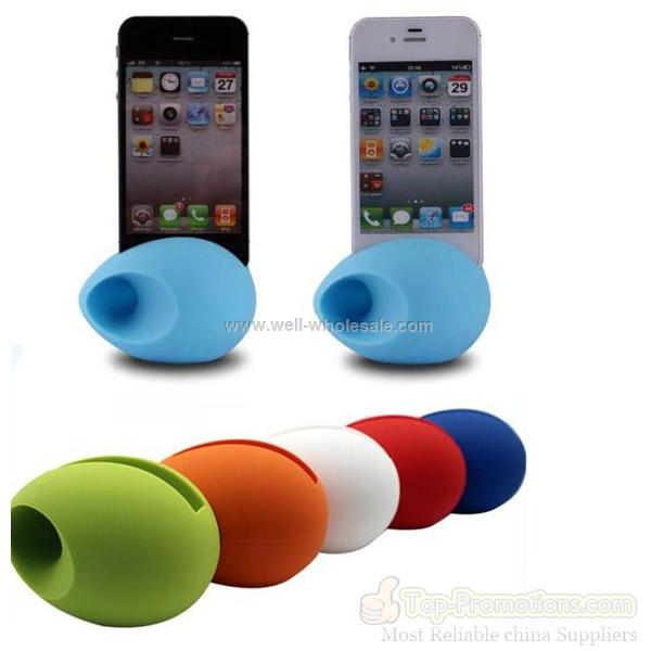 New fashion silicone speaker for iphone 4/4s