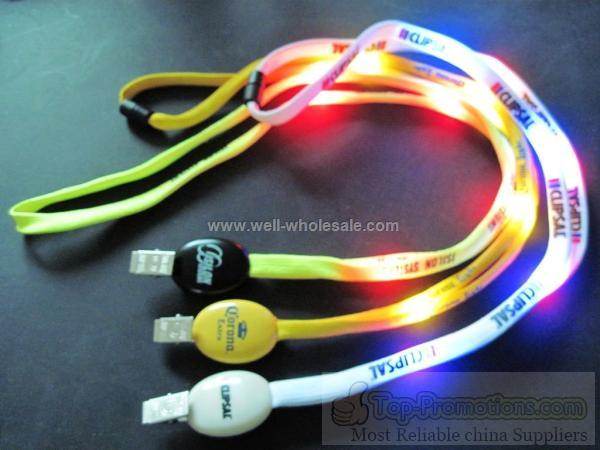 led necklace lanyard light up strap