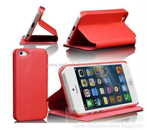 Stand wallet leather case for iphone 5