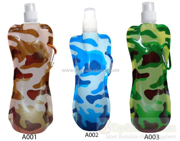 collapsible water bottle with camouflage color 450ML