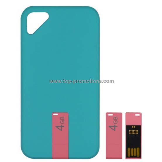 For iPhone 4/4s hard back protective phone cover case with USB