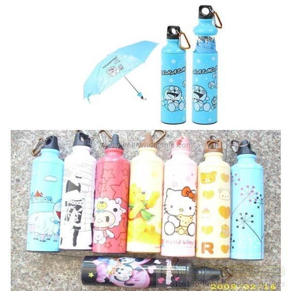 folding promotion manual open cheap wine bottle umbrella