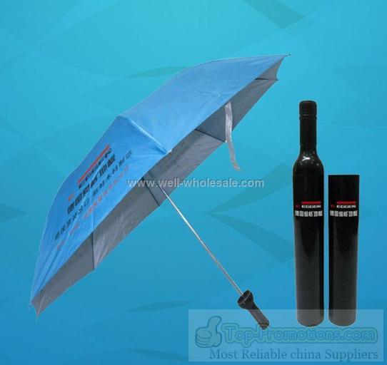 """21""""promotional wine bottle umbrella"""
