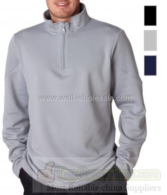 UltraClub Adult Cool & Dry 1/4 Zip Fleece