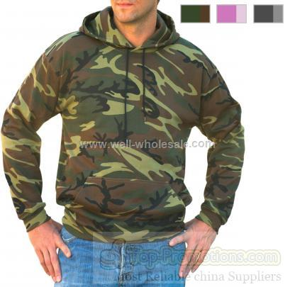 Code V Adult Camouflage Pullover Hoodie
