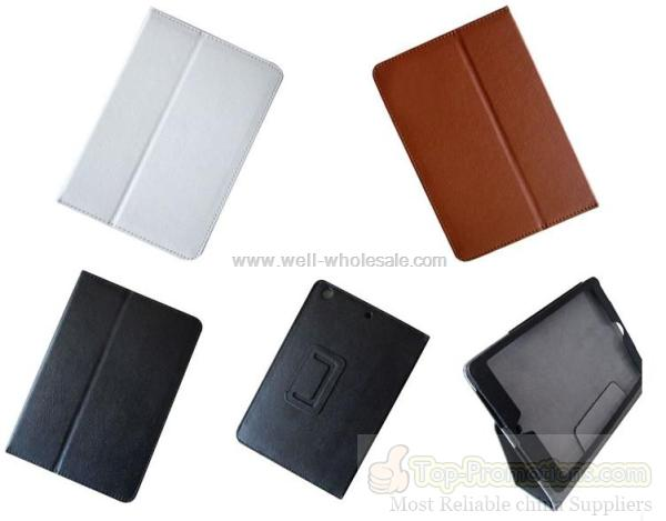 Mini ipad leather case