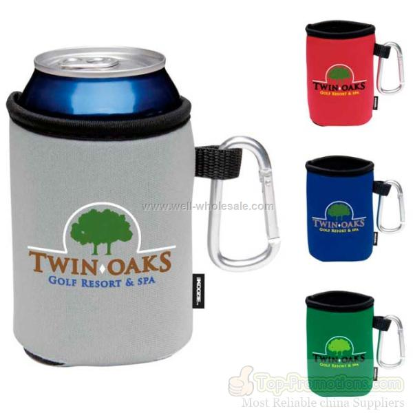 Koozie Can Cooler with Carabiner
