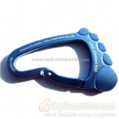 foot shape carabiner/carabiner keychain
