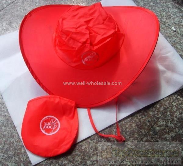 foldable hat with bag
