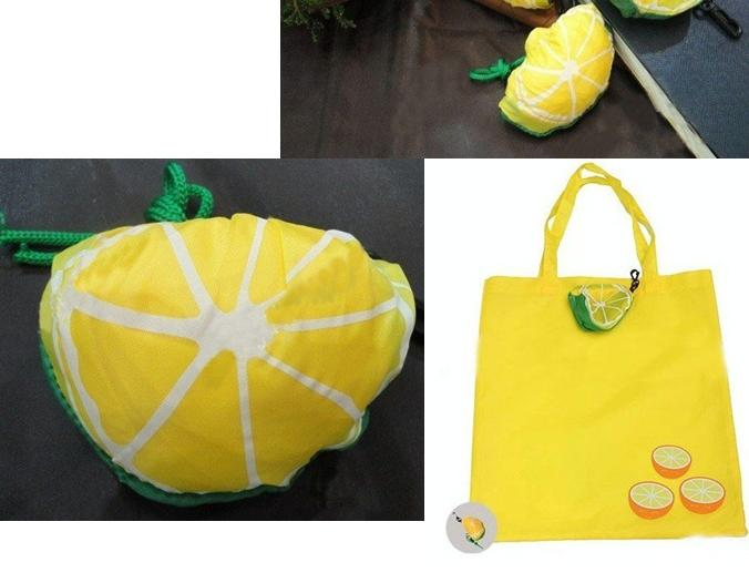 lemon foldable shopping bag
