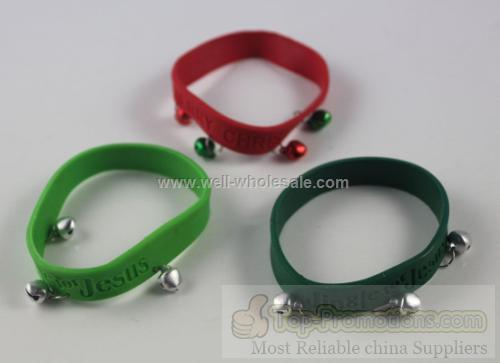 Customized silicone bracelet with bells