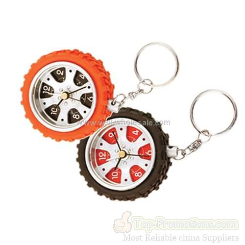 Tyre Alarm Clock With Keychain