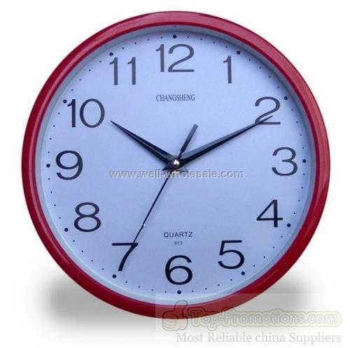 """9"""" Round Plastic Clock"""