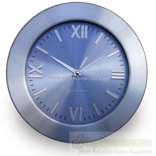 "12"" Round Metal Clock"