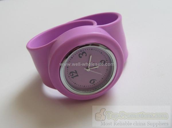 promotional round silicone watch