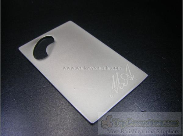 promotional Credit Card Sized Bottle Opener