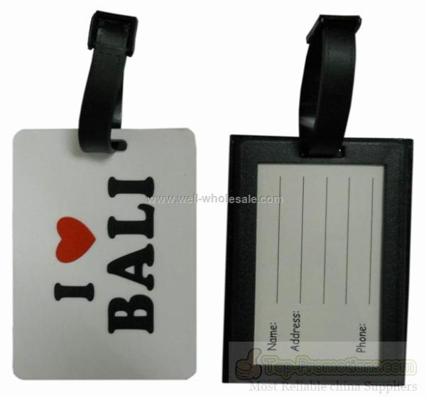 3d pvc luggage tag