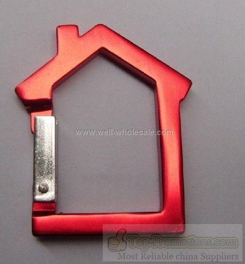 Aluminum House Carabiner with Keyring