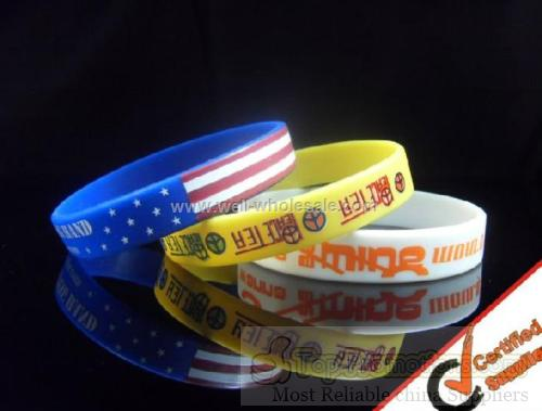 printing silicone wristband,promotional gift
