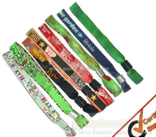 Recycling Fashion Event Fabric Woven Wristbands