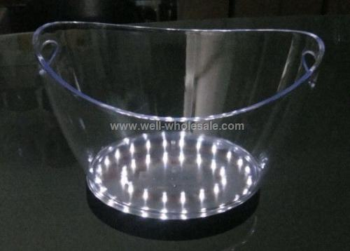 Flash Plastic Led Ice Bucket For Bar And Club