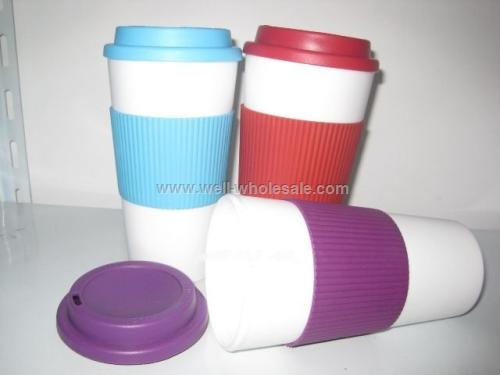 16 Oz. Coffee Mug With Silicon