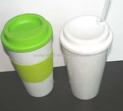 16 Oz. Coffee Mug With Silicon sleeve