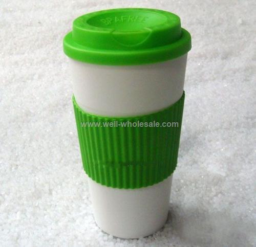 Plastic Coffee Mug With Sleeve