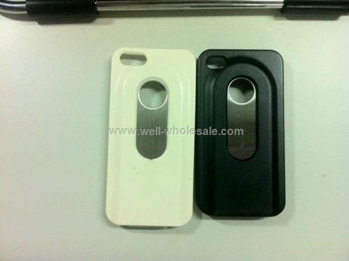Matte Plastic with Steel Slide Out Bottle Opener Case for iPhone 5