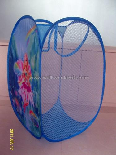 Polyester folding laundry basket