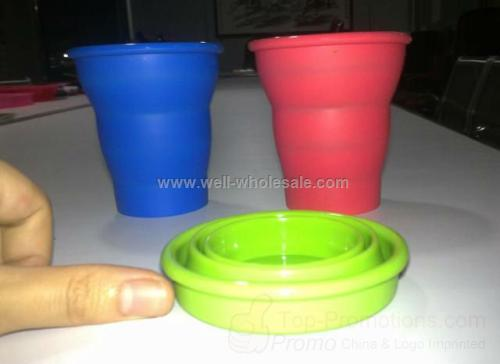 Portable silicone foldable travel cup,sport cup