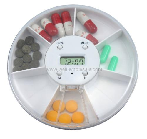 pill box with timer,round pill box