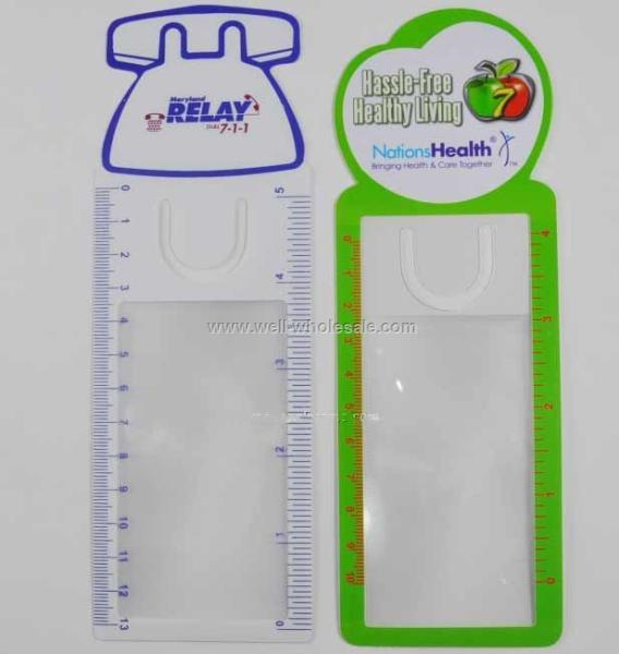 Business Card Magnifier with Ruler