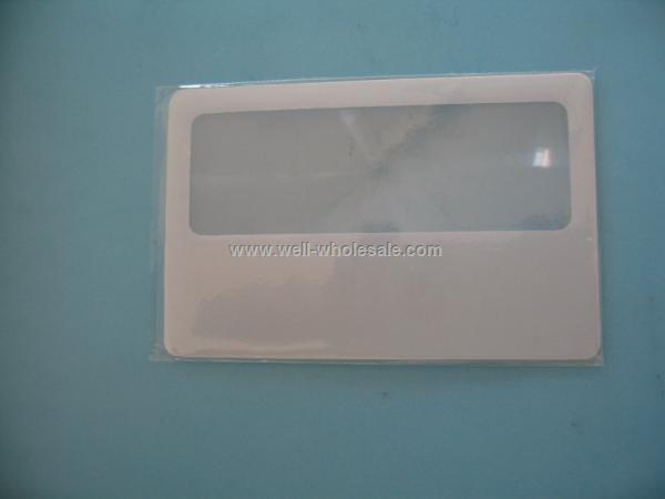 pvc name card magnifier