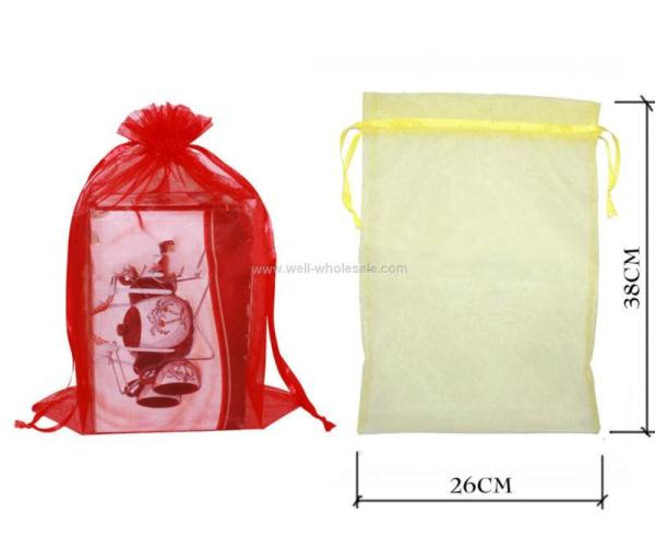 organza bags with drawstring,logo