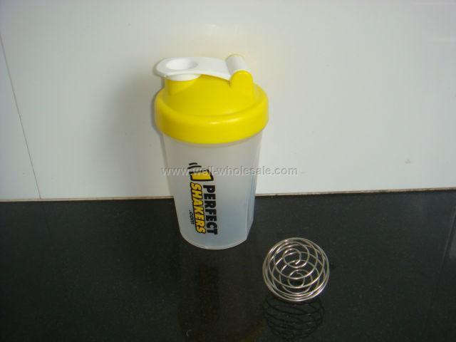 12oz plastic protein shaker bottle