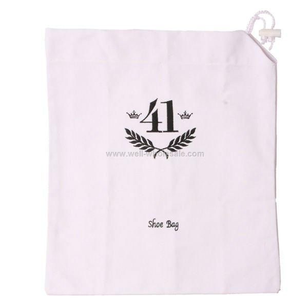 Drawstring cotton shoe bag